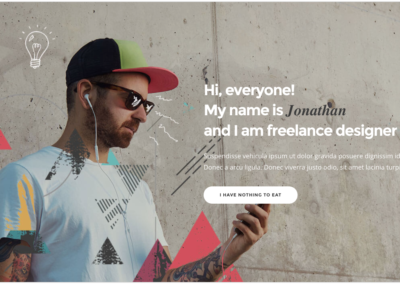 Landing page for freelancers